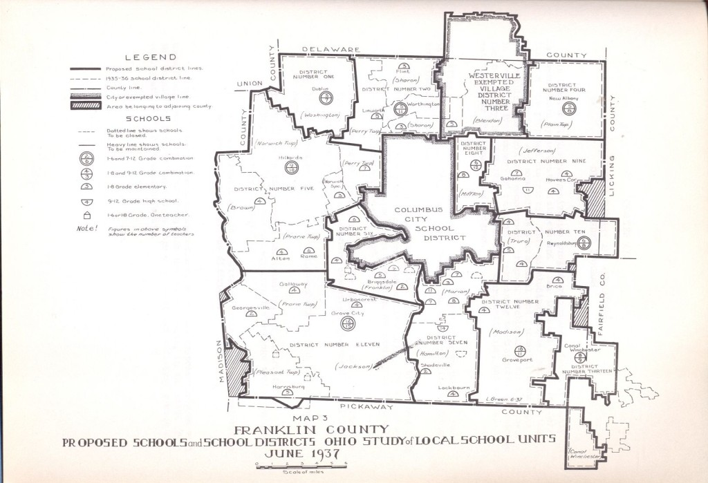 Turner used records like this 1937 Study of Public School Building Needs for Franklin County Ohio to find school information for his website.