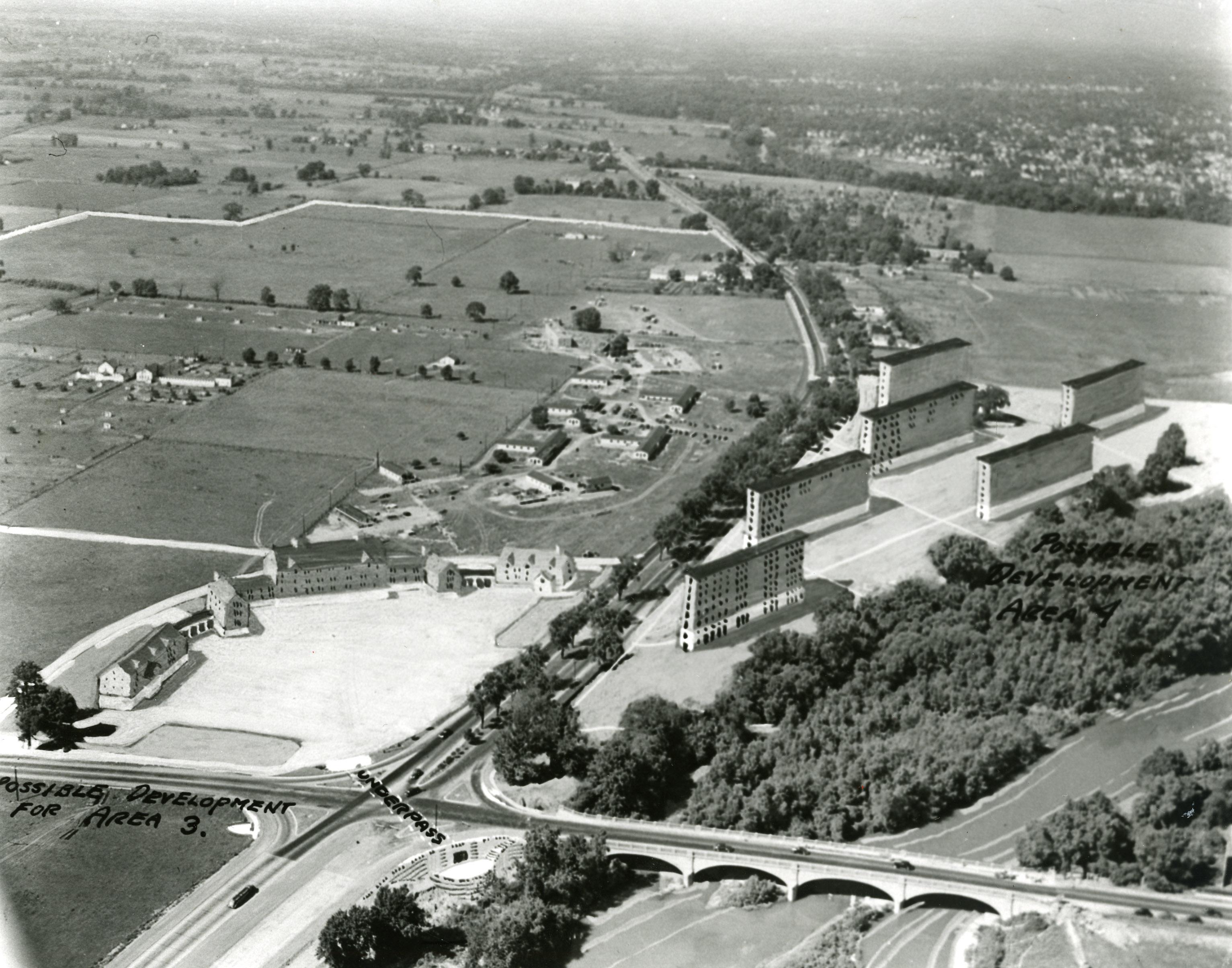 Aerial Sketch Of Gi Village Columbus Neighborhoods