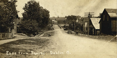 Downtown Dublin, Ohio in the early 1900's