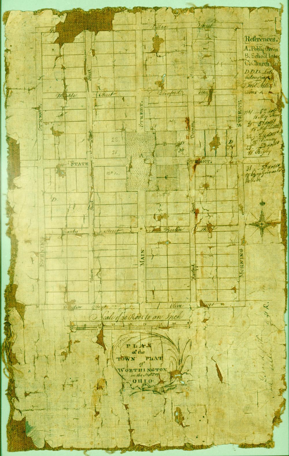Plat Map Worthington Ohio 1803 Columbus Neighborhoods