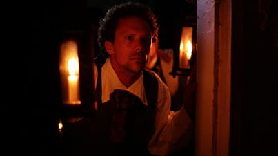 WOSU Videographer Ryan Schlagbaum portrays Underground Railroad Conductor Jason Bull.
