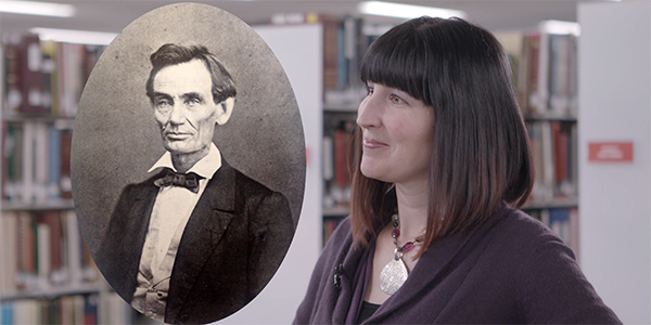 Abraham Lincoln and Diana Bergemann