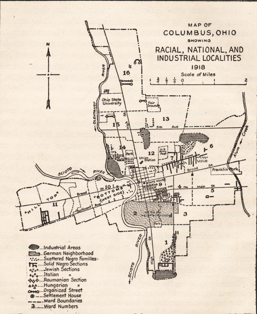Roderick McKenzie's 1918 map of racial, national and industrial localities