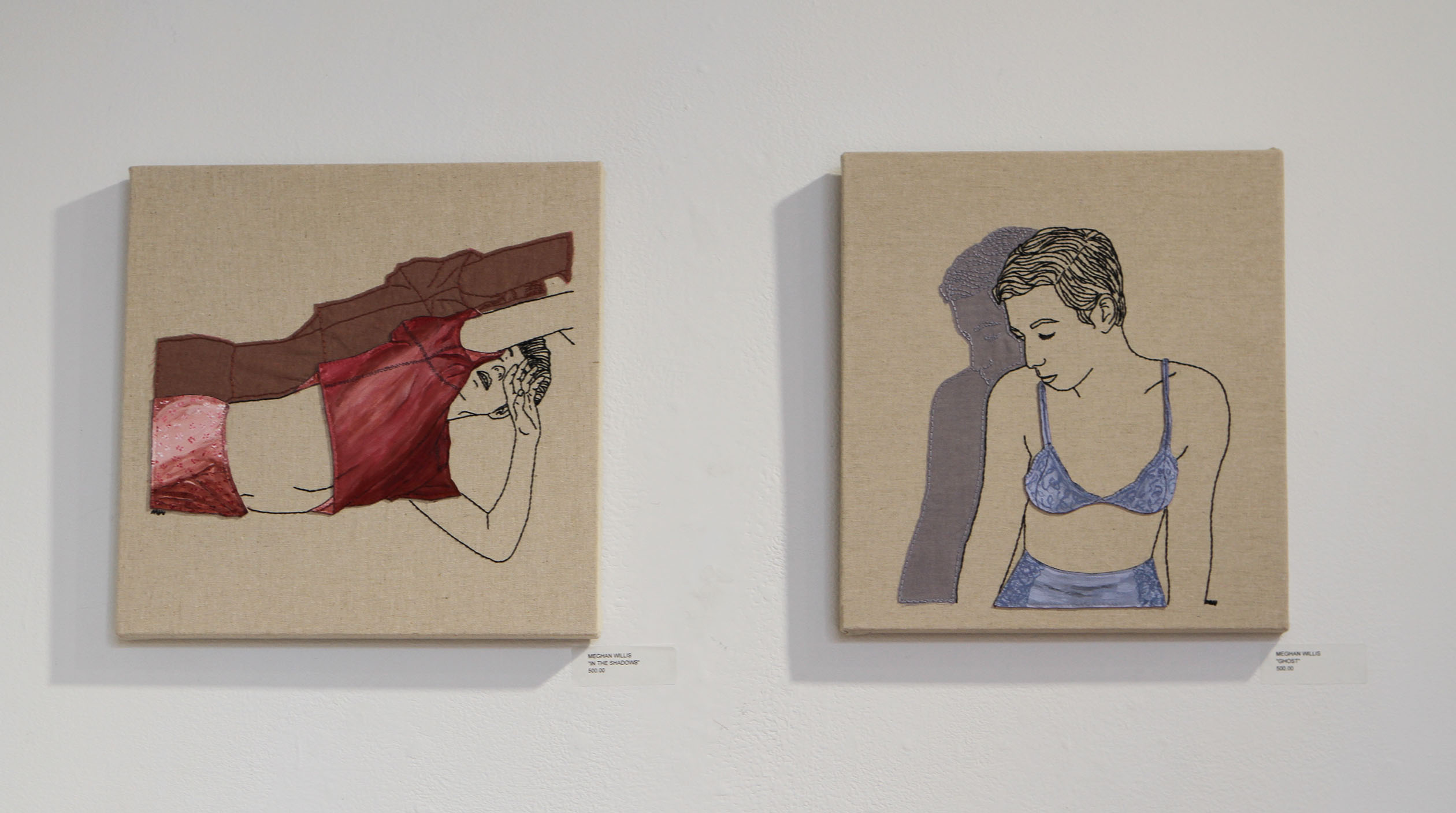 Artist Meghan Willis previously lived in Columbus and now makes her embroidered art in Brooklyn.