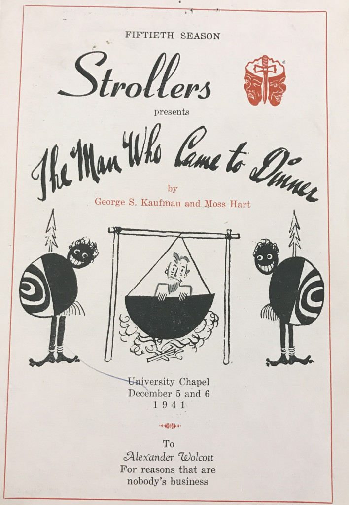 A program from the Strollers' 50th season