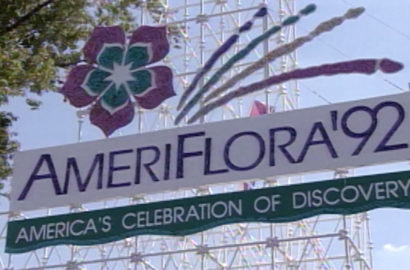 Ameriflora sign at Franklin Park in Columbus