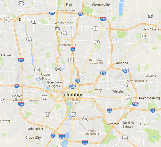 Highways, Suburbanization and Revitalization - EA - Columbus ... on hoover reservoir map, i 70 map, i 495 map, interstate 270 map,