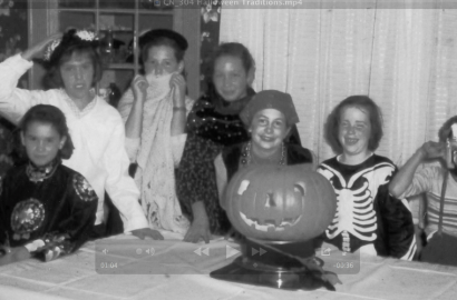 Halloween costumes in Grandview Heights in the 1960s.