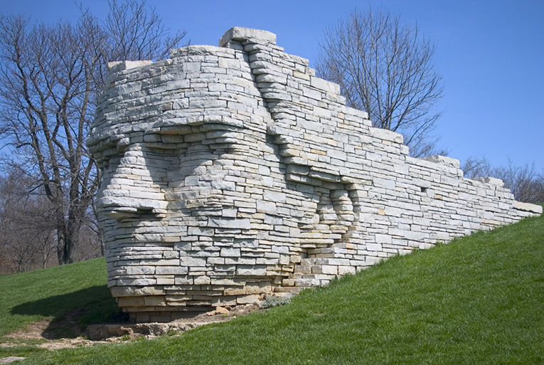 The Leatherlips monument at Scioto Park